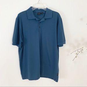 Hugo Boss Pima Cotton Textured Blue Polo Shirt XXL